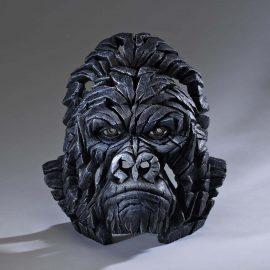 Gorilla Bust by Edge Sculpture