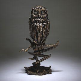 Owl - Golden by Edge Sculpture