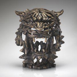 Tiger Bust Golden Edge Sculpture
