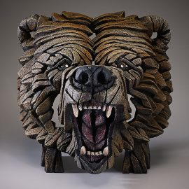 Grizzly Bear Bust by Edge Sculpture