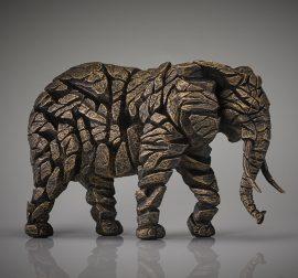 Elephant - Golden by Edge Sculpture