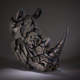Rhinoceros Bust by Edge Sculpture