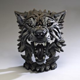 Wolf Bust Timber by Edge Sculpture