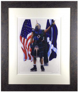 Over The Sea (Portrait of Jesse Rae) by Alexander Millar
