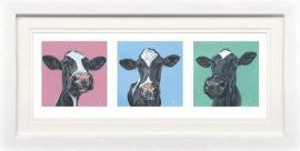 Three's Company - Paper Triptych by Gina Hawkshaw