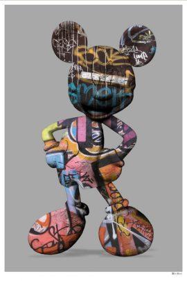 Graffiti Mickey Grey by Monica Vincent