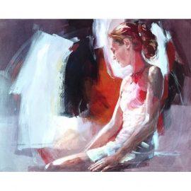 Window Seat (Box Canvas) by Christine Comyn