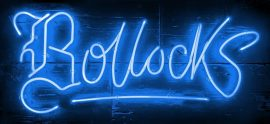 Bollocks (Electric Blue) by Courty