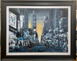 Into The Sunset, Times Square NYC by Mark Curryer