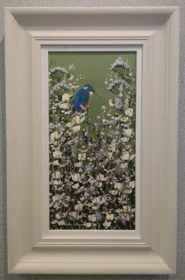 Little Blue Kingfisher V Original Mary Shaw