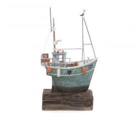 Gone Fishing Sculpture by Rebecca Lardner