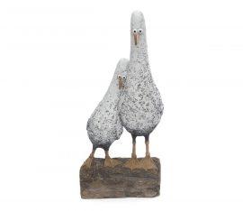 Home Birds Sculpture by Rebecca Lardner