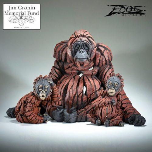 Orangutan Family by Edge Sculpture