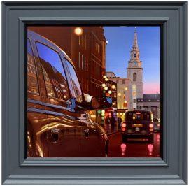 London Dusk Reflections Canvas Edition by Neil Dawson