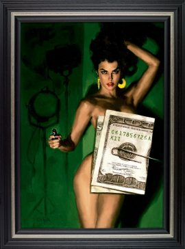 Money Shot Canvas Edtion by Glen Orbik