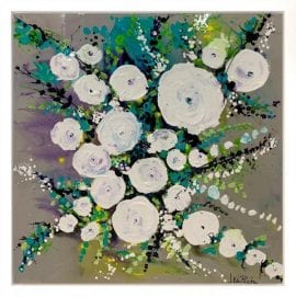 Teal Blush Original by Jean Picton