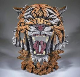 Tiger Bust - Bengal by Edge Sculpture