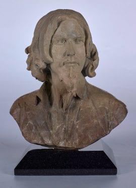 Self Portrait Bust by Fabian Perez