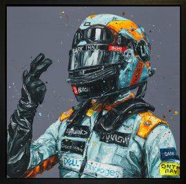 Monaco Lando hand embellished canvas
