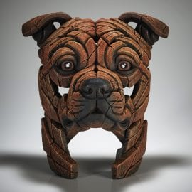 Staffordshire Bull Terrier - Red by Edge Sculpture