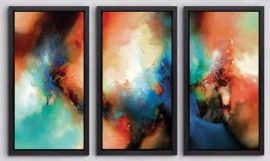 THE LIGHT FANTASTIC I, II & III by Simon Kenny