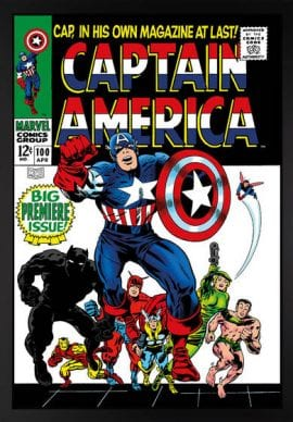 Captain America #100 - Big Premiere Issue! - Boxed Canvas Edition