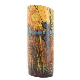 Van Gogh Willows At Sunset Vase by John Beswick