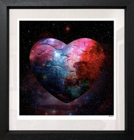 Cosmic Heart Black by Monica Vincent
