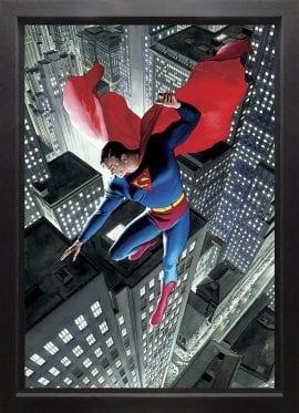 Superman Twentieth Century Deluxe Box Canvas by Alex Ross