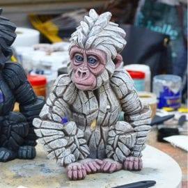 Baby Gorilla Snowflake by Edge Sculpture