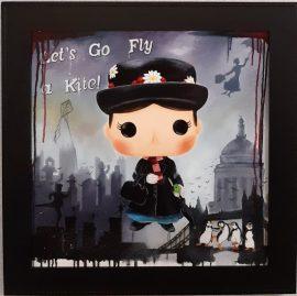 Let's Go Fly A Kite Original by Deborah Cauchi