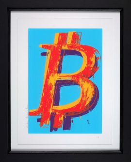 Bitcoin Blue by Mr Brainwash