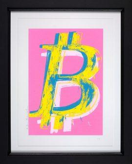 Bitcoin Pink by Mr Brainwash
