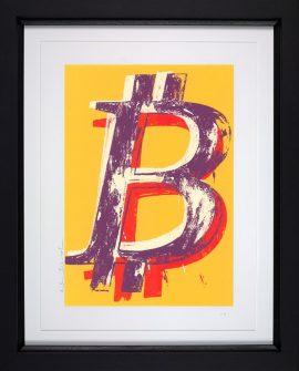 Bitcoin Yellow by Mr Brainwash