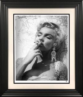 Smoking Gun-Marilyn black and white by JJ Adams