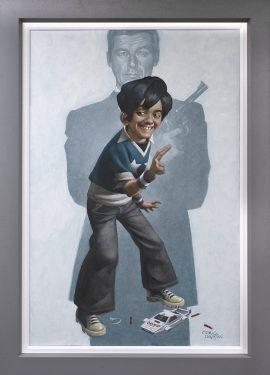 Dan With The Golden Gun Canvas by Craig Davison
